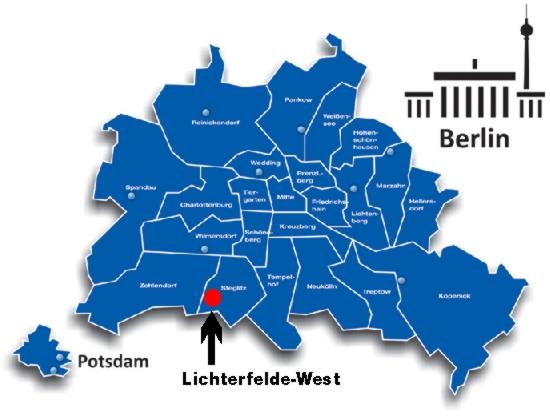 West Berlin Karte.Ferienwohnung Berlin Lichterfelde Naturnah Wohnen In Der Hauptstadt